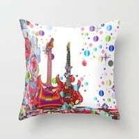 Party Time Throw Pillow by Macsnapshot