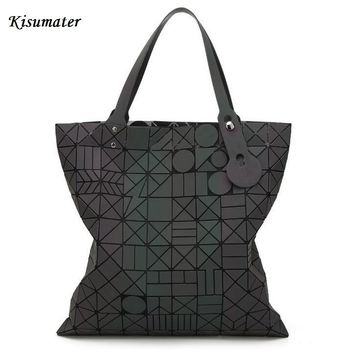2017 New Luminous Bag Women handbag  Hologram Laser Shoulder Messenger  female totes Free Shipping Geometric Lattic Bag