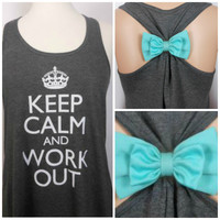 Keep Calm and Work Out / Workout Tank Top / Crossfit Tank Top / Gym Tank