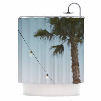 "Kristi Jackson ""Summer Nights"" Coastal Green Shower Curtain"