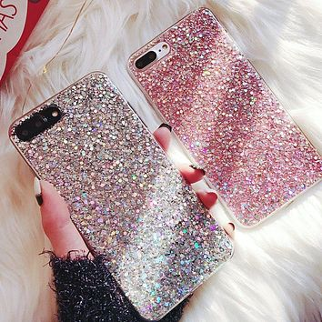Silicone Bling Glitter Crystal Sequins Phone Case for Samsung Ga 25c4c0f74