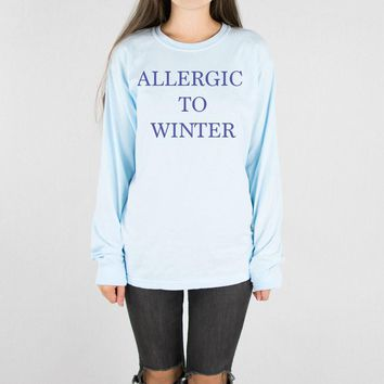 Allergic to Winter Long Sleeve Tee