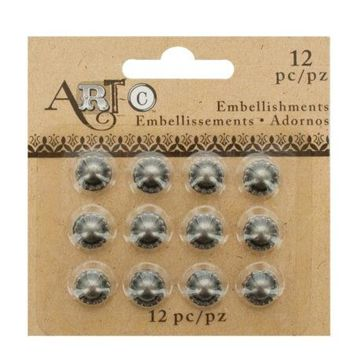 Antique Silver Craft Embellishment Studs Set