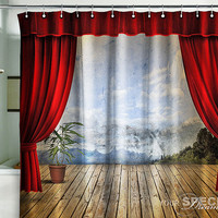 "Shower Bath Curtain blind stage theatre 71x71""(180x180cm)"
