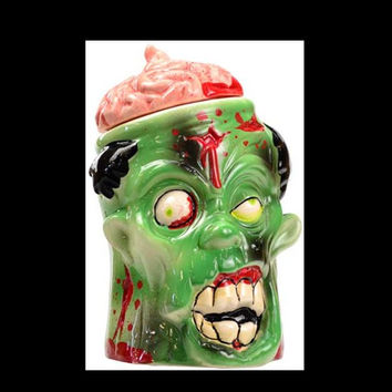 "9"" Horrific Spooky Zombie Goodie Jar with Lid"