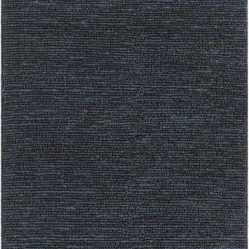 Chandra Arlene Blue Hand-Woven Solid Color Jute Rug