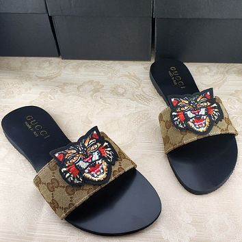 Trendsetter Gucci Fashion Women And Men Sandal Slipper Shoes