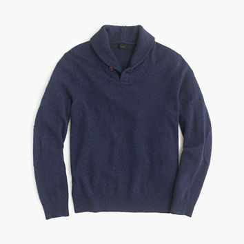 J.Crew Mens Softspun Shawl-Collar Sweater