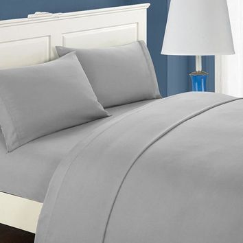 Solid color Matte material flatsheet fitted sheet pillowcases four sets of bedding