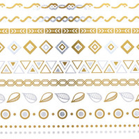Metallic Temporary Tattoos-Tribal