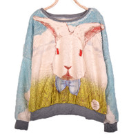 Lovely rabbit fleece female long sleeves