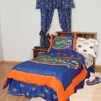 NCAA Florida Gators Collegiate Football 7pc King Bedding Set