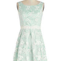 ModCloth Pastel Short Sleeveless A-line Mint for the Stage Dress