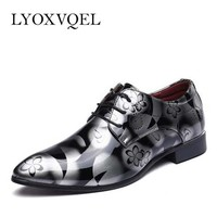 Men Dress Shoes Shadow Patent Leather Luxury Fashion Groom Wedding Shoes Men Oxford sh