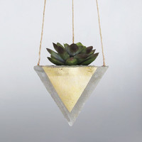 Air Planter, Hanging Planter, Succulent Planter, Concrete Planter, Modern Planter, Geometric Planter, Mini Planter, Indoor Planter, Gold
