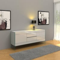 Modrest Aura Modern White Floating Buffet