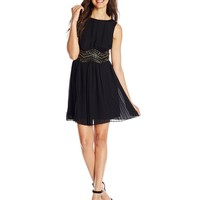 As U Wish Juniors' Beaded-Waist Party Dress