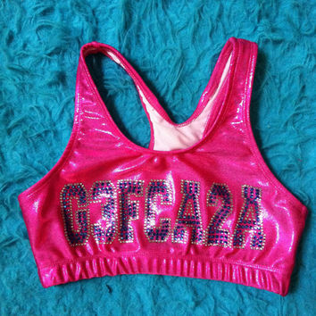 Metallic G3FCA2A sports bra