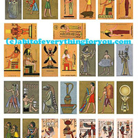 egyptian king queen gods goddesses domino collage sheet 1 x 2 inch clip art digital download graphics images craft pendant pins printables