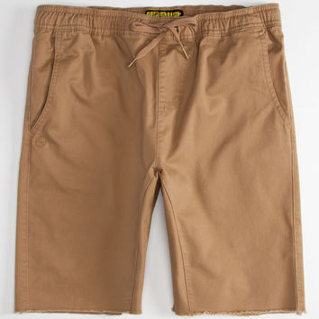 Crash Mens Jogger Shorts Tan  In Sizes