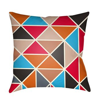 Scandanavian Pillow Cover - Coral, Sky Blue, Black, Bright Red, Cream, Pale Pink, Charcoal, Camel - SN009