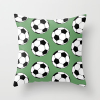 Soccer Star Throw Pillow by tzaei | Society6