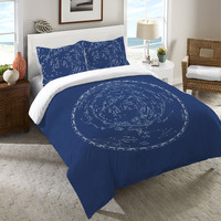 Stars and Constellations Chart Duvet Cover