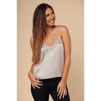 New Moon Silk Camisole (Silver)