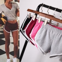 Womens Sports Running Yoga Shorts