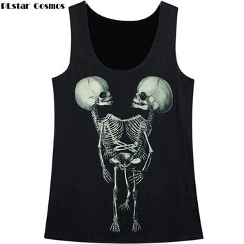 Skull 3D Print Harajuku Tank tops Men/Women casual vest tops