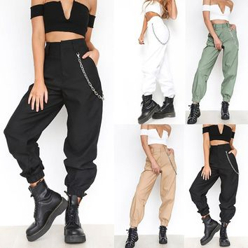 Women Fashion Cargo Pants Casual Cotton Tough Durable Cargo Trousers
