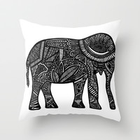 Elle Throw Pillow by Creative Chaos