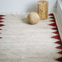 Steven Alan Triangle Edge Wool Shag Rug - Huckleberry