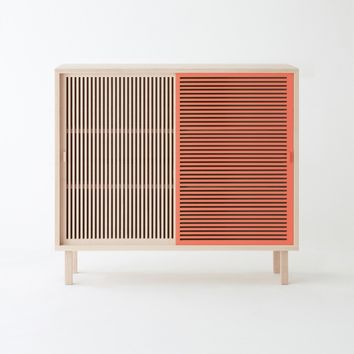 KYOTO coral console in solid beech - COLONEL