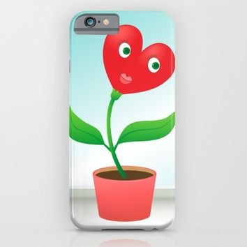 Cute hearts-flowers in love iPhone & iPod Case by Natalia Bykova | Society6