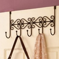 Over the Door Hanging Purse/closet Rack 5 Hook