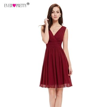 Ever Pretty Brand Short Homecoming Dresses Black for Wedding Party A Line Cute Girls Gowns robe courte mezuniyet elbiseleri
