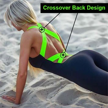 2018 Workout Tracksuit For Women One Piece Sport Clothing Backless Sport Suit Running Tight Dance Sportswear Gym Women Yoga Set