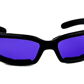 Purple Lens Sunglasses Biker Motorcycle Riding Glasses