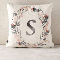Iveta Abolina For Deny Pink Summer Monogram Pillow | Urban Outfitters