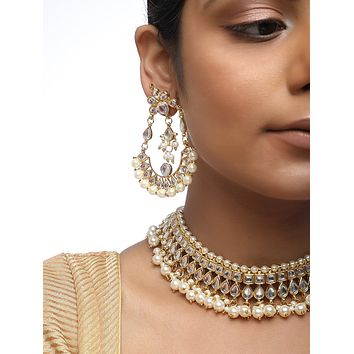 Kundan Set with Earrings and Necklace MRR70