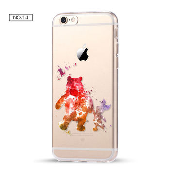 Clear Pooh Soft Disney Phone Case For iPhone 7 7Plus 6 6s Plus 5 5s SE C