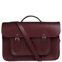 Cambridge Satchel Company 15 Inch Leather Batchel - Oxblood Womens Accessories - FREE UK Delivery