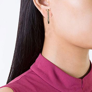 1 Pair Women New Popular Aloy Simple Screw Stud Earring GD