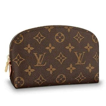 DCCK GOEYY BAG Monogram Canvas Cosmetic Bag with Zipper for Women