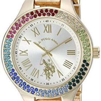 U.S. Polo Assn. Women's Quartz Metal and Alloy Automatic Watch, Color:Gold-Toned (Model: USC40128)