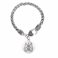 Papa Damballah Voodoo Loa Solomon Pendant  Chain Bracelet for Women/Men