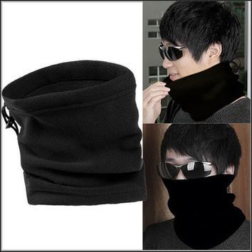 1pcs Unisex Polar Fleece Neck Warmer Thermal Snood Scarf Hat Ski Wear Snowboarding = 1958325188