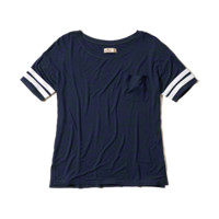 Sporty Ringer Pocket T-Shirt