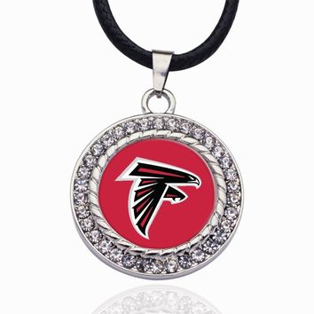 Wimpy kid Atlanta Falcons Pendant Necklace Best Gift for /Women/Girl/Men/Mom Zinc Alloy Ball Chain Necklace Sporty Necklace